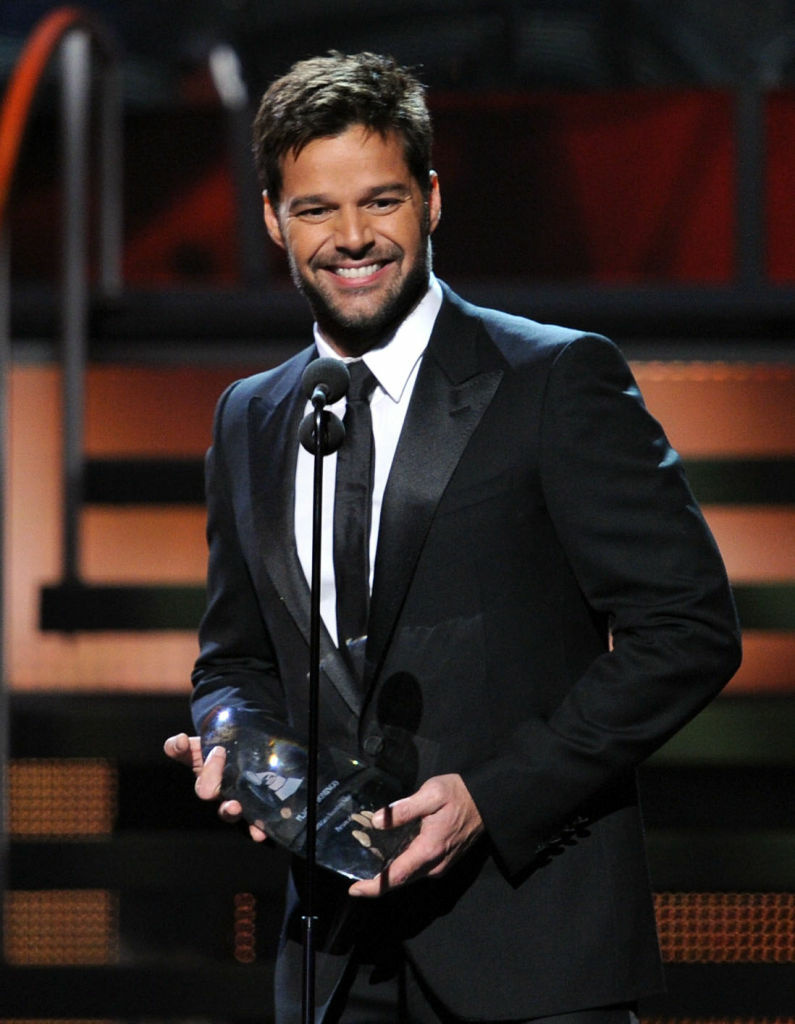 Singer Ricky Martin presents an award onstage during the 11th annual Latin GRAMMY Awards at the Mandalay Bay Events Center. Martin has endorsed President Obama's support for same-sex marriage.
