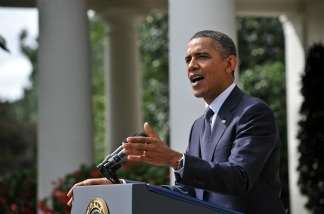 File photo: US President Barack Obama in the Rose Garden. The President will talk about a new plan to help homeowners.