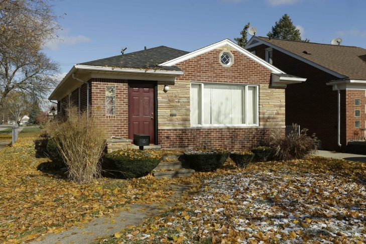 In this Nov. 12, 2013 photo is the Dearborn Heights, Mich., home where 19-year-old Renisha McBride was shot on Nov. 2  The homeowner, Theodore P. Wafer, 54, was charged Friday, Nov. 15, 2013 with second-degree murder in McBride's death. Police say the former high school cheerleader was shot in the face on Wafer's front porch a couple hours after being involved in a nearby car accident. Family members say she likely approached the home for help.
