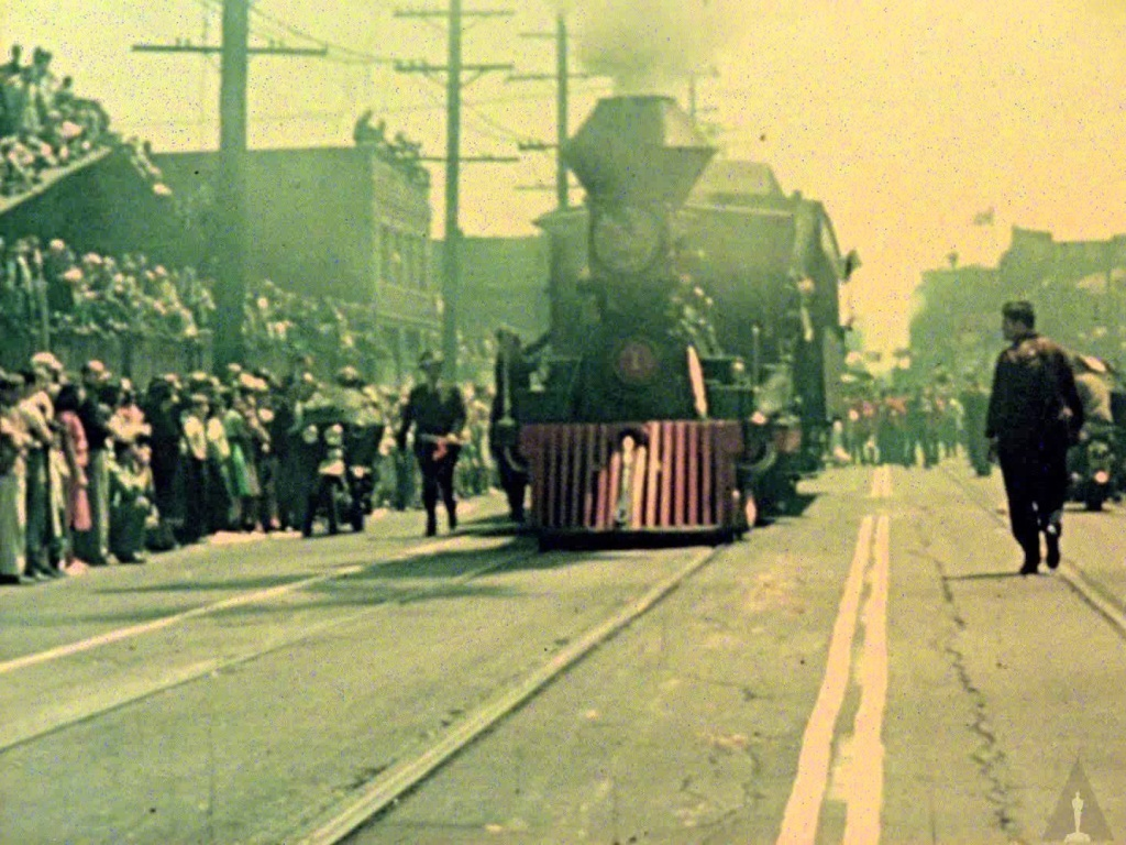 In honor of Union Station's 75th Anniversary, Metro and the Academy of Motion Picture Arts and Sciences, in cooperation with the family of Ward Kimball, have restored the only known footage of the historic opening. Documented in the home movie, the parade drew half a million spectators to downtown Los Angeles.