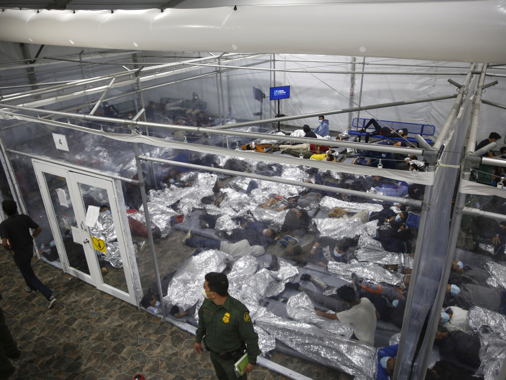 The administration has struggled to house young migrants at Customs and Border Protection facilities like this one in Donna, Texas.
