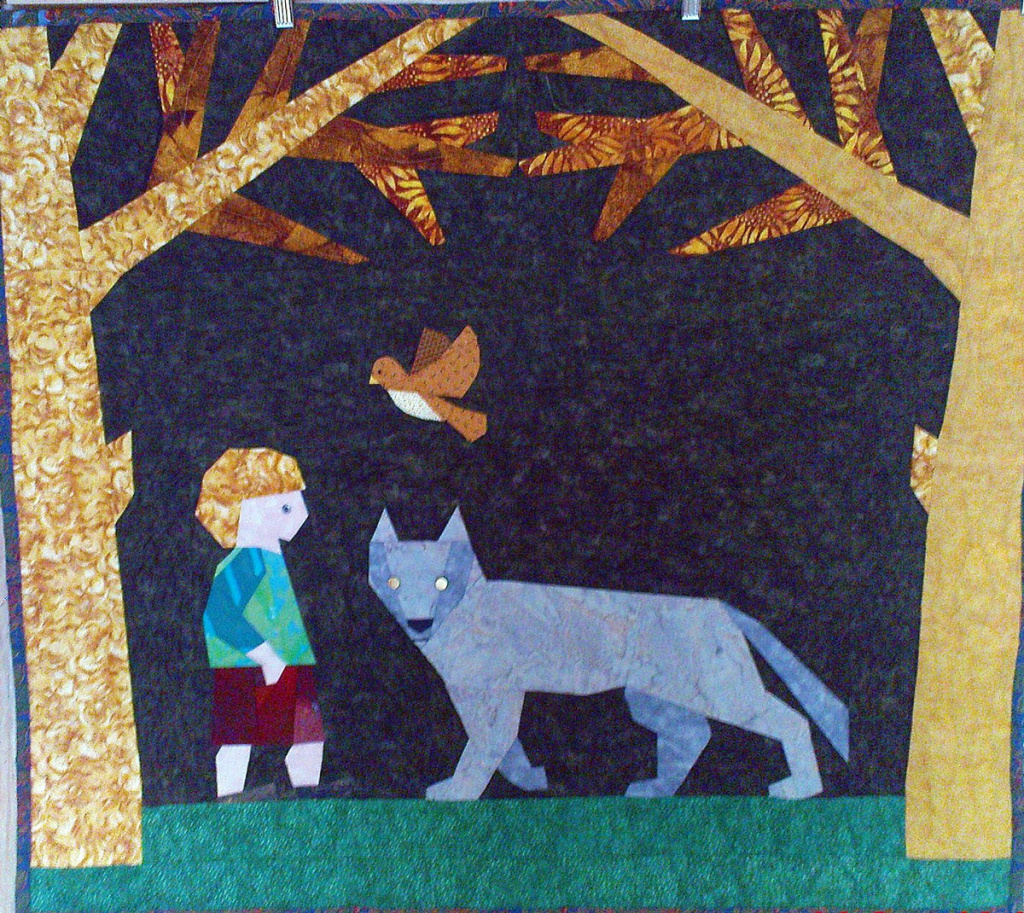 """Peter and the Wolf"" quilt"