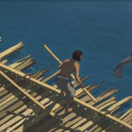 "A scene from the movie ""The Red Turtle"" (La tortue rouge)."