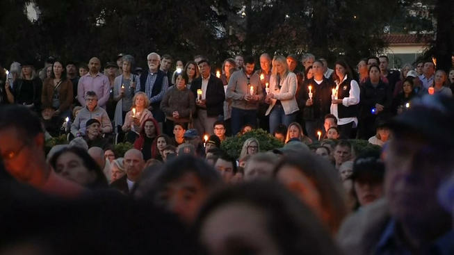 Thousands of people attended a vigil in honor of the 20 victims of the Santa Barbara County mudslides on Sunday, January 14, 2018.