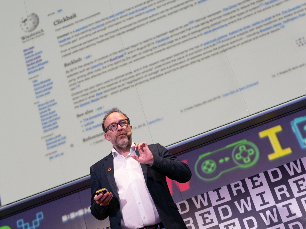 American Internet entrepreneur and founders of Wikipedia  Jimmy Wales attends the Wired Next Fest 2019 at the Giardini Indro Montanelli on May 25, 2019 in Milan, Italy.