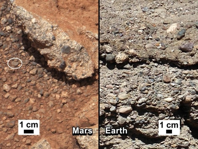mars curiosity rock outcrops