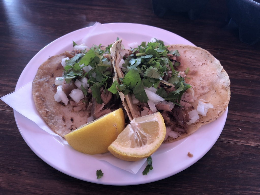 Carnitas tacos from Zamora Brothers in Boyle Heights.