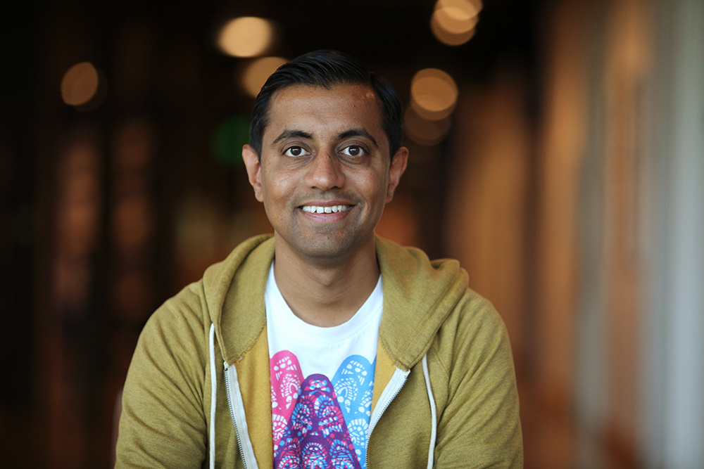 Sanjay Patel photographed June 4, 2015, at Pixar Animation Studios in Emeryville, Calif.