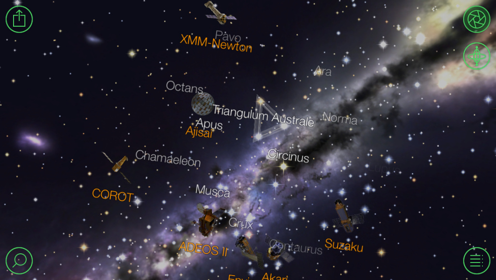 An example of the information available in the app Star Walk.
