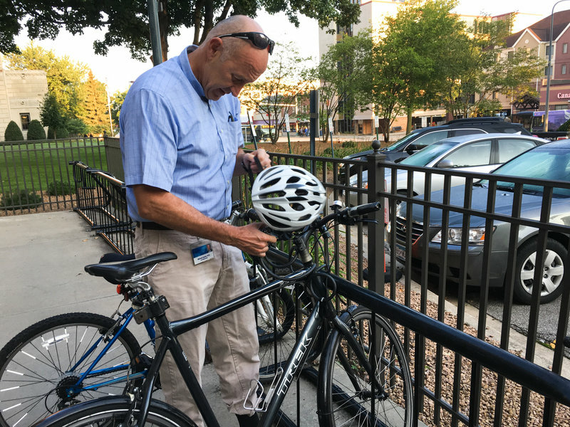 Scientist Michael Joyner rides his bike to work every day because he believes the exercise has more of an impact on a person's BMI than their genetic profile.