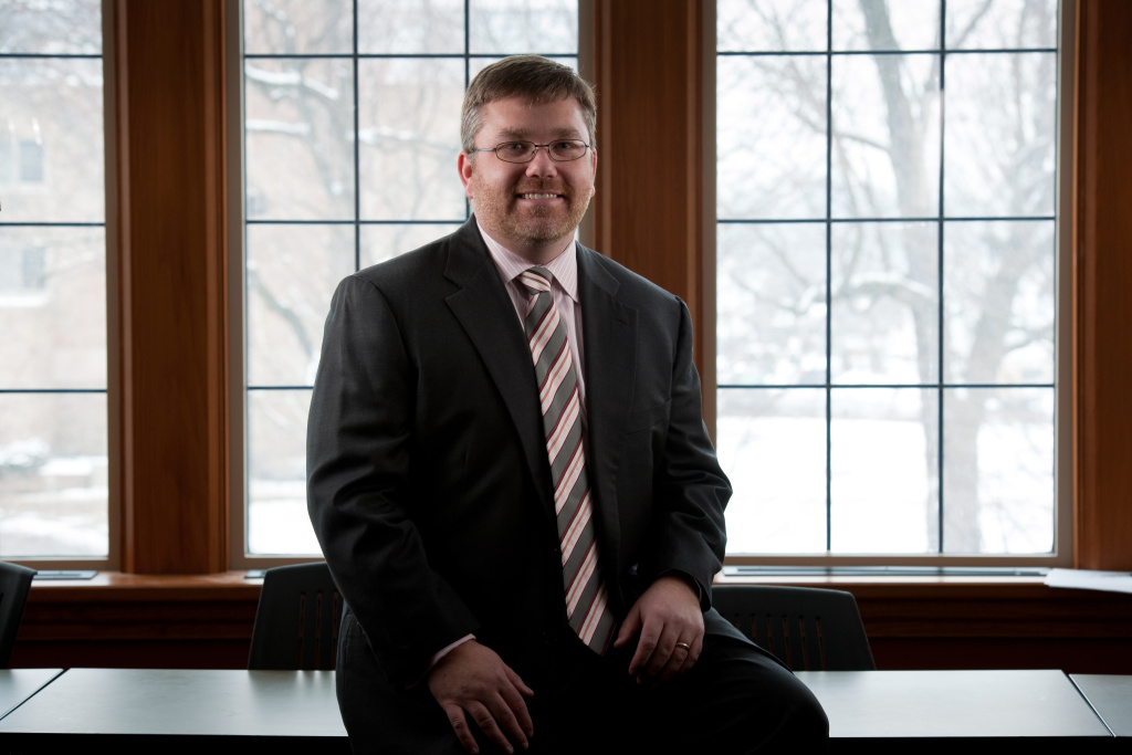 Mark P. McKenna, Professor of Law, poses for a recent picture for the University of Notre Dame