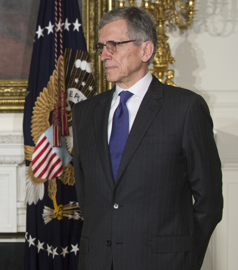 Tom Wheeler, current head of the Federal Communications Commission (FCC), attends the announcement in the East Room of the White House in Washington, DC, on May 1, 2013.