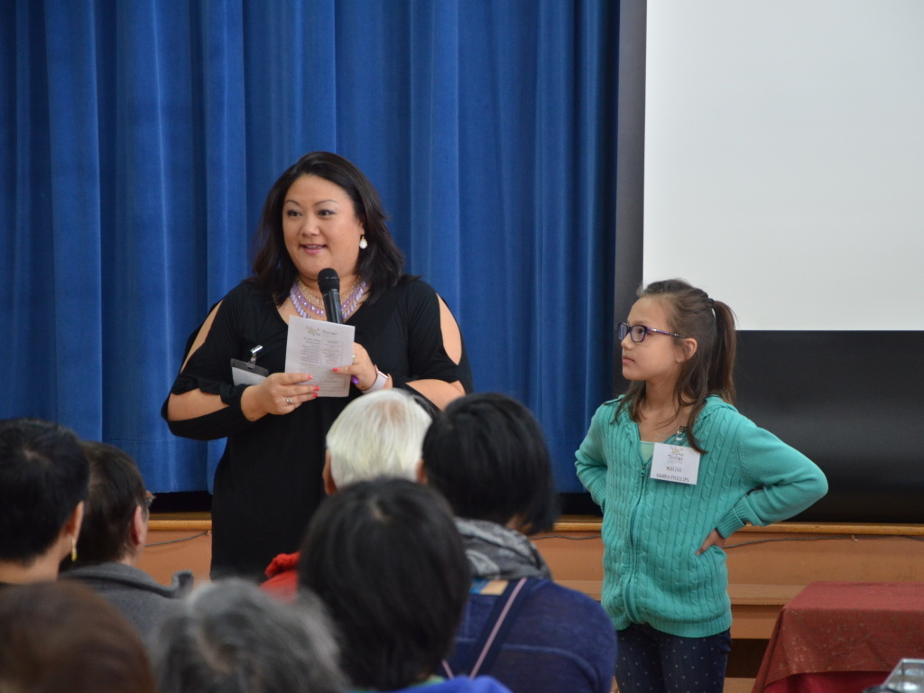 Michelle Honda-Phillips stands with her transgender daughter, Malisa, at a pre-event for Tadaima in Berkeley, California.