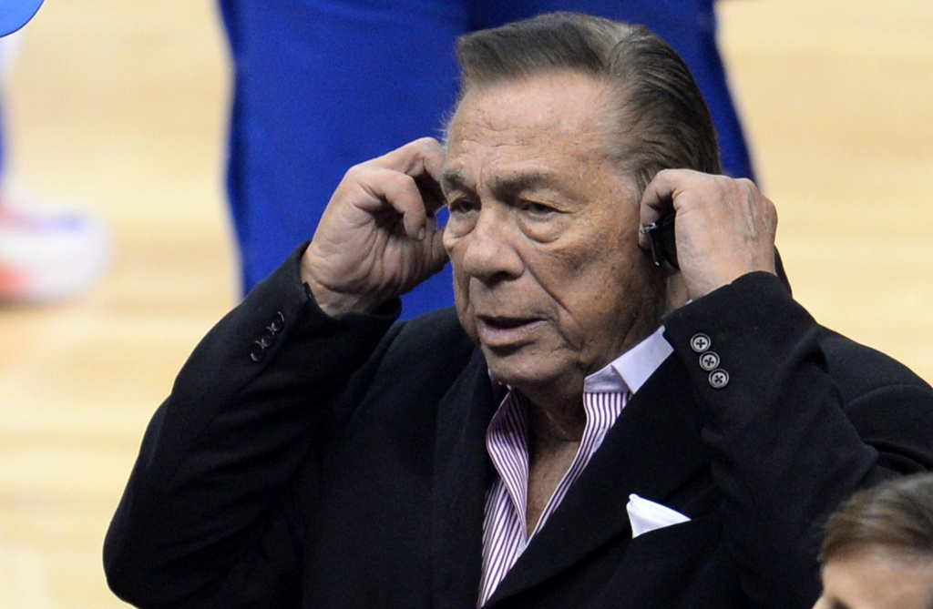 Los Angeles Clippers owner Donald Sterling attends the NBA playoff game between the Clippers and the Golden State Warriors, April 21, 2014 at Staples Center in Los Angeles, California.
