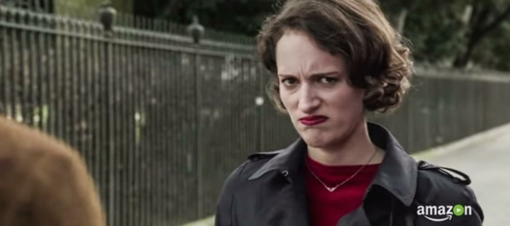 Still image of the BBC show, Fleabag starring Phoebe Waller-Bridge.