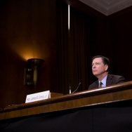 Director of the Federal Bureau of Investigation, James Comey testifies in front of the Senate Judiciary Committee during an oversight hearing on the FBI on Capitol Hill May 3, 2017.