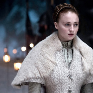 "Sophie Turner as Sansa Stark in HBO's ""Game of Thrones."""