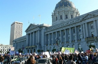 A protest taking voice against Proposition 8.