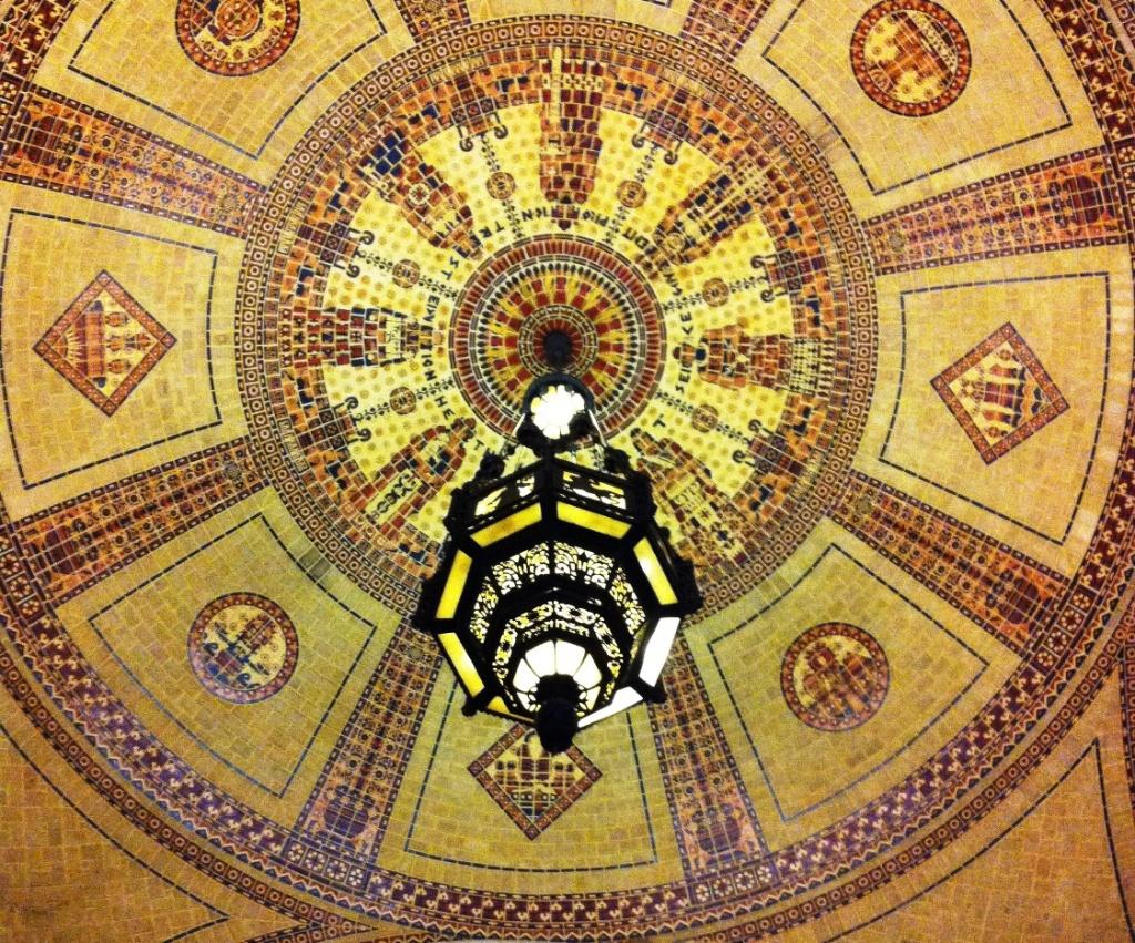 Ceiling detail, LA's City Hall.