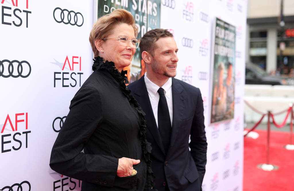Annette Bening (L) and Jamie Bell attend the screening of