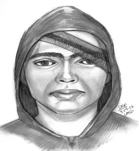 Police circulated this drawing of the suspect. He is described as a white man between 18- and 40-years-old and between 5 feet 8 inches and 5 feet 10 inches tall.