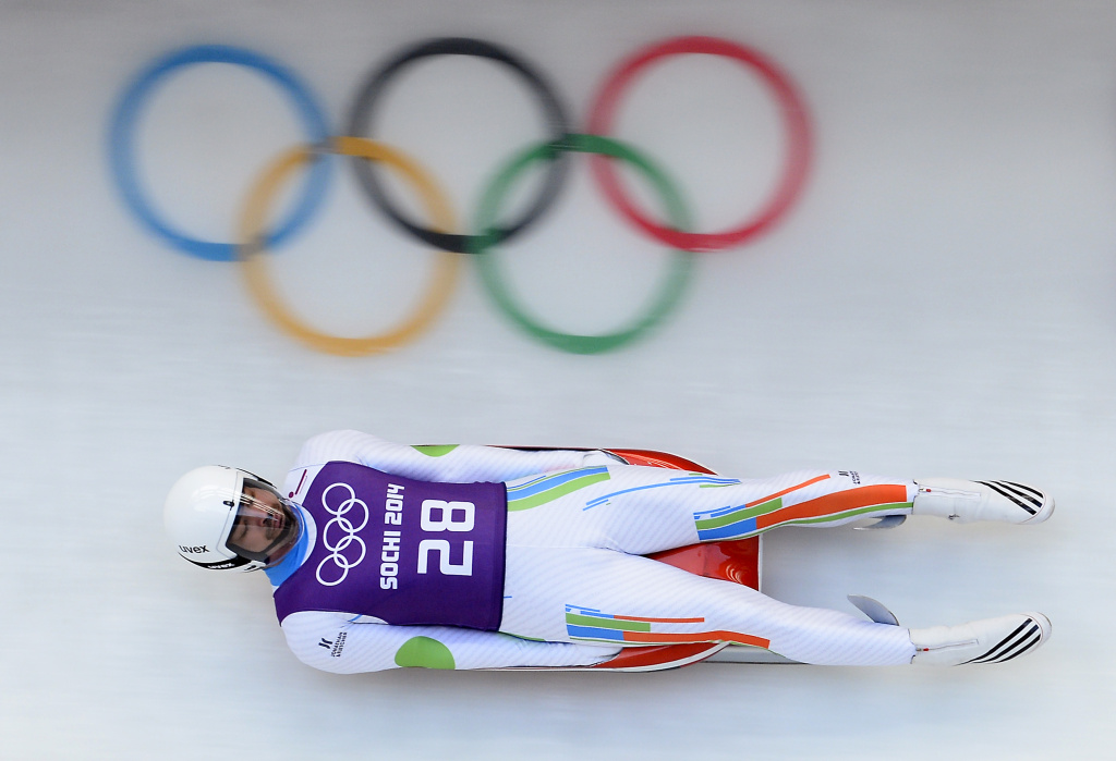 Independent Olympic Participant Shiva Keshavan takes part in a training session for the Men's Luge Singles at the Sliding Center Sanki during the Sochi Winter Olympics on February 7, 2014. NBC is set to broadcast the Olympics through 2032.