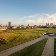 Expansive view of the LA State Historic park.