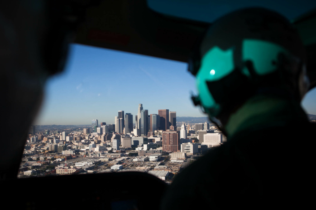 What's it like to fly on an LAPD helicopter patrol? | 89 3 KPCC
