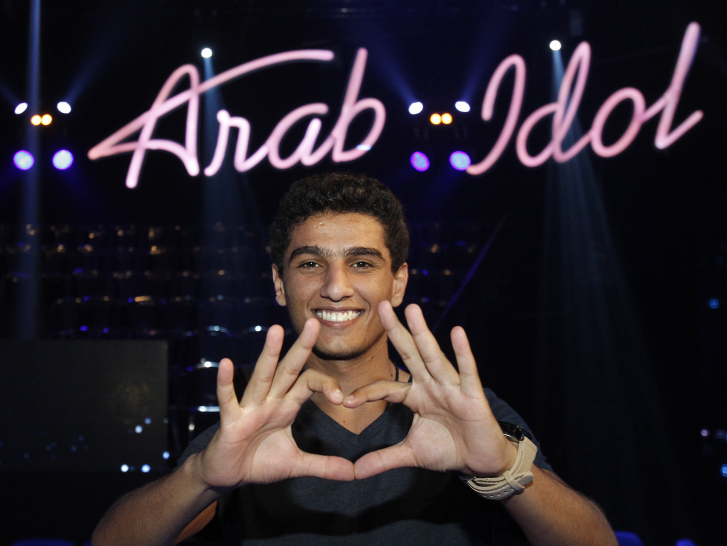 Palestinian performer Mohammad Assaf is a finalist on <em>Arab Idol</em>, which is filmed in the Lebanese city of Jounieh north of the capital Beirut.