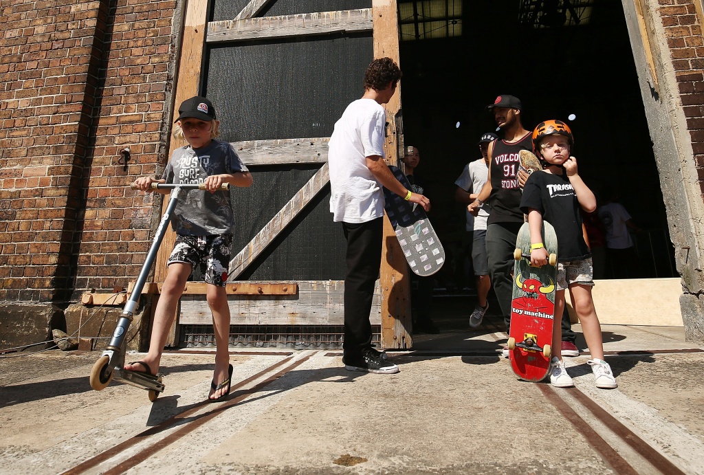 Skateboarders and children attend MADE Sydney at Carriageworks on November 13, 2016 in Sydney, Australia.
