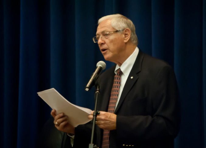 L.A. County Supervisor Michael D. Antonovich speaks at the Hall of Administration on June 6, 2012.