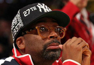 Director Spike Lee looks on during Game Six of the 2010 NBA Finals between the Boston Celtics and the Los Angeles Lakers at Staples Center on June 15, 2010 in Los Angeles, California. Lee recently unveiled his new 4-hour documentary that, in part, looks at the BP oil spill at the National Association of Black Journalists convention in San Diego.