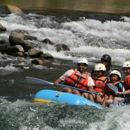 Rue Mapp and Outdoor Afro members whitewater rafting on the American River.