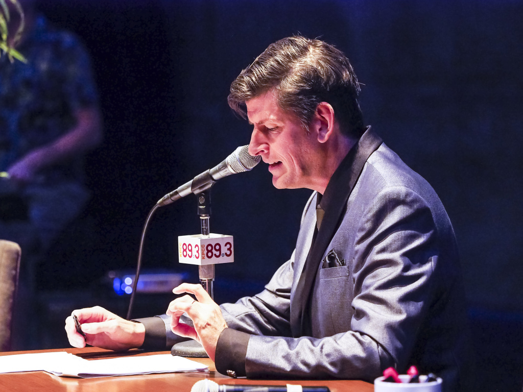 KPCC's John Rabe hosts Off-Ramp's 10th Anniversary special, performed live at the Los Angeles Theater Center in Downtown LA