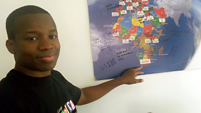 Tidjane Deme, 40, is the founder of Google's office in Dakar. While Google Maps doesn't work in the city, Deme says all of Africa will soon be connected.