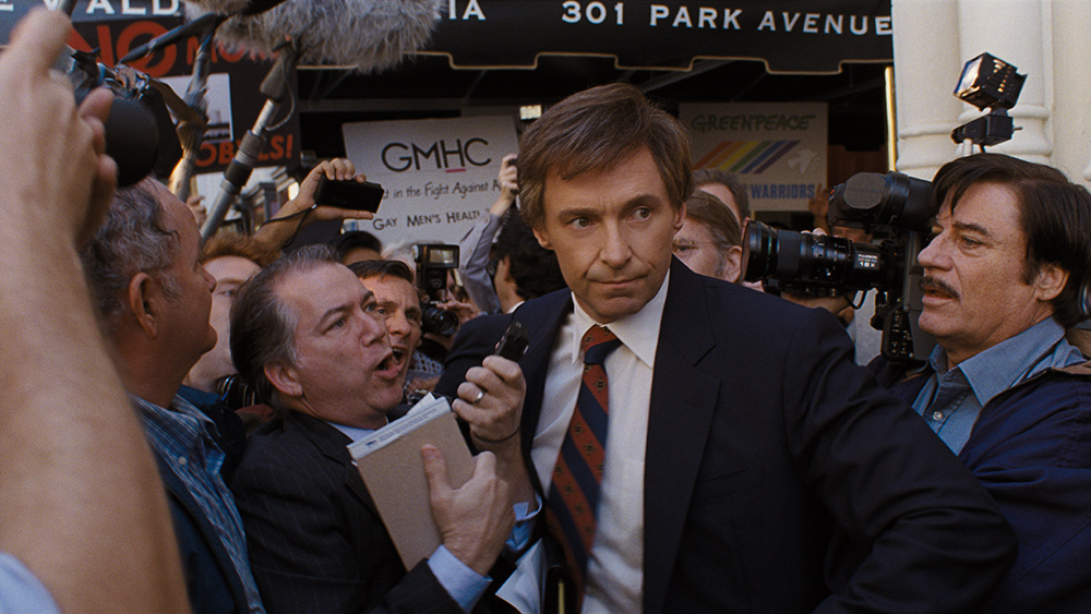 Hugh Jackman plays 1988 Democratic presidential hopeful Gary Hart in