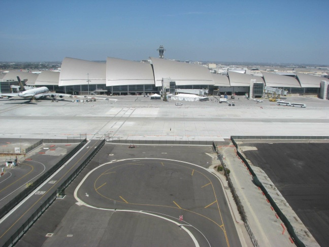 The terminal design was inspired by the waves along Southern California's beaches. The structure is 110 feet tall.