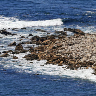 "This July 12, 2016, photo shows a stone structure at Rocky Point in Lunada Bay in the tiny, seaside city of Palos Verdes Estates, Calif. The days are numbered for the ""Stone Fort,"" created by a territorial group of surfers known as the Bay Boys, erected illegally decades ago as part of their sustained battle to keep rival wave-riders from some of the best breaks in Southern California. The city, under pressure from the California Coastal Commission and others, Tuesday, July 12, 2016 ordered the structure torn down amid complaints that its only purpose is as a staging area from which the Bay Boys can gather to harass other surfers. (AP Photo/Reed Saxon)"