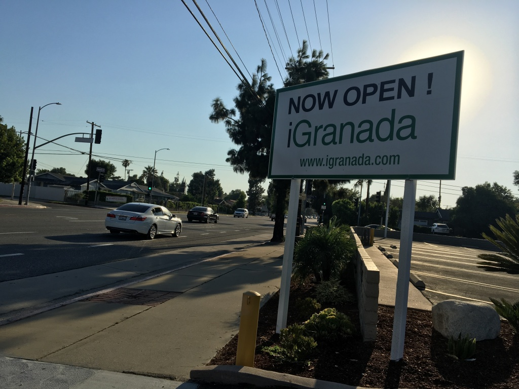 A sign advertising Granada Hills Charter High School's