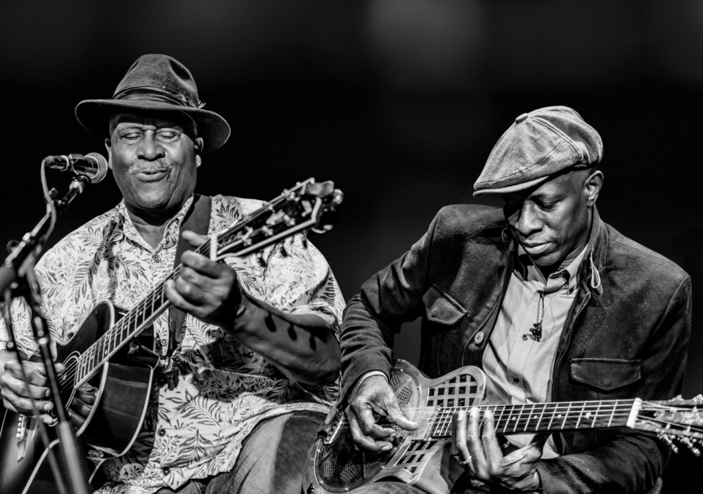 Keb' Mo' (right) first saw Taj Mahal perform while a high school student in Compton, CA.