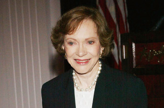 Former first lady Rosalynn Carter attends the Death Penalty Focus Awards at the Beverly Hilton Hotel, on Beverly Hills, California.