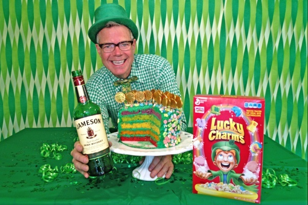 Irish Whiskey Lucky Charms Cake.