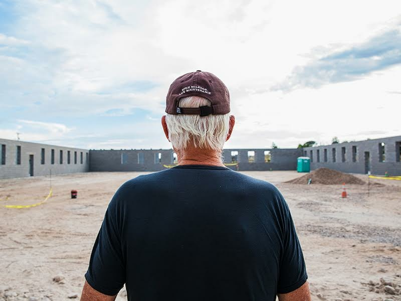 Robert Irwin onsite at Chinati Foundation, October 2015.