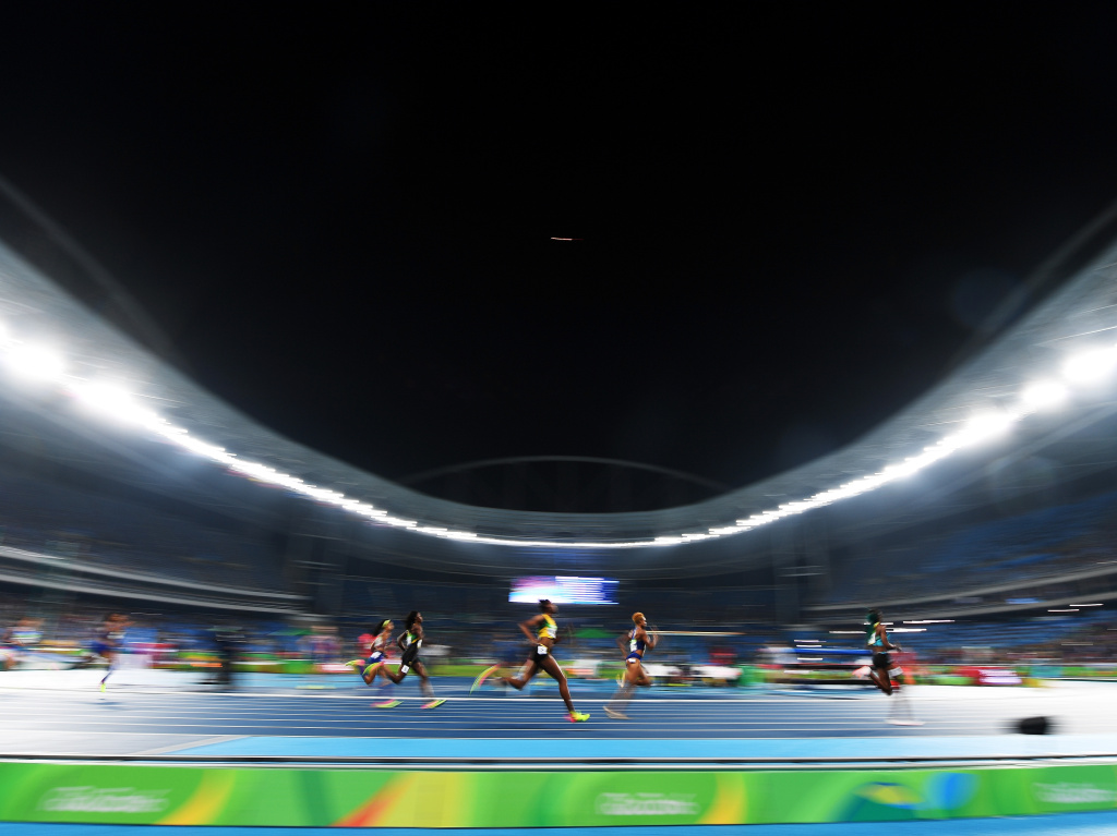 Roughly 35 bills are being proposed that would limit or prohibit transgender women from competing in women's athletics. Above, athletes run in the Women's 400 meter final during the Rio 2016 Olympic Games.