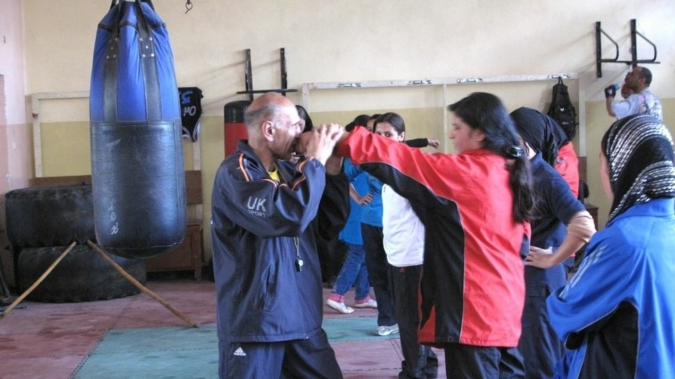 Saber Sharifi has been recruiting and training female boxers in Afghanistan over the past five years.