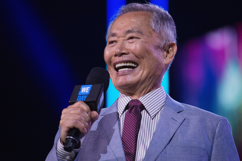 Actor, author and activist George Takei speaks on stage during We Day at KeyArena on April 20, 2016 in Seattle, Washington.