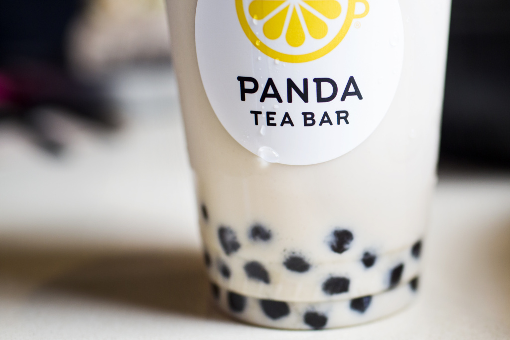 A crème brûlée boba milk tea is one of several new tea drinks being developed at the Panda Express Innovation Kitchen in Pasadena.