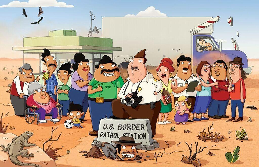 Straight Line Borders Clip Art : The frame® 'bordertown' writer lalo alcaráz takes a comedic look