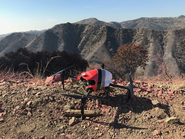 One of LAFD's DJI drones