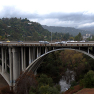 Arroyo Seco passes under Highway 134